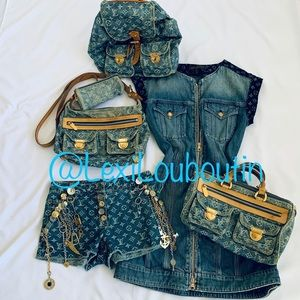 Louis Vuitton Denim Baggy Crossbody Bag Purse